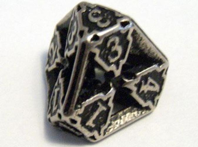 A Die4 in stainless steel and inked.