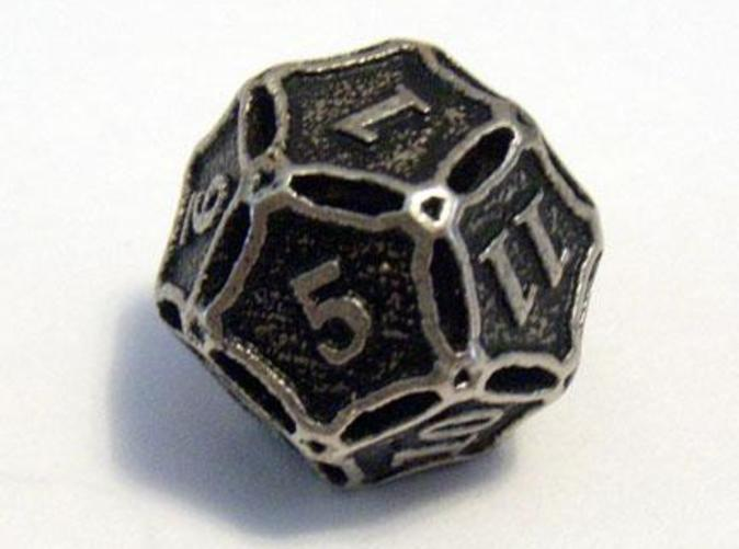 A Die8 in stainless steel and inked.