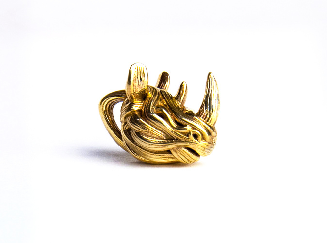 3D Print in polished Brass