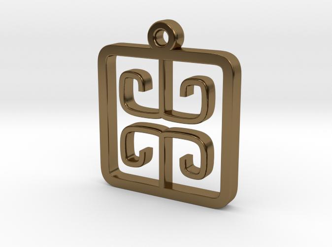 Greek Pattern Charm (001)