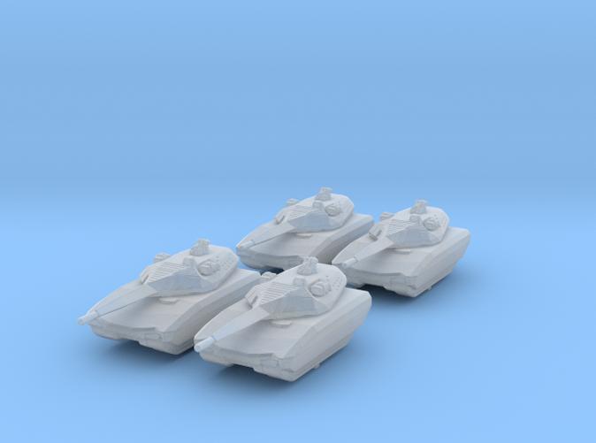 1/285 (6mm) Polish PL-01 Light Tank Prototype x4