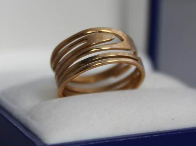 Ring Nº2 in Polished  Brass.