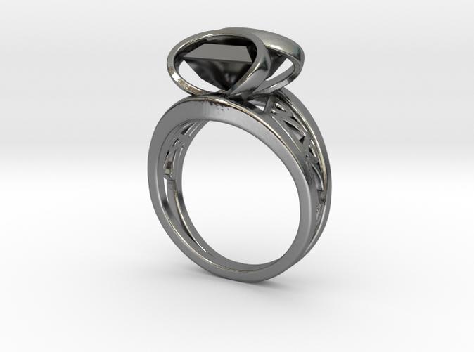 Harrington Font Twin Ring + Square Gem