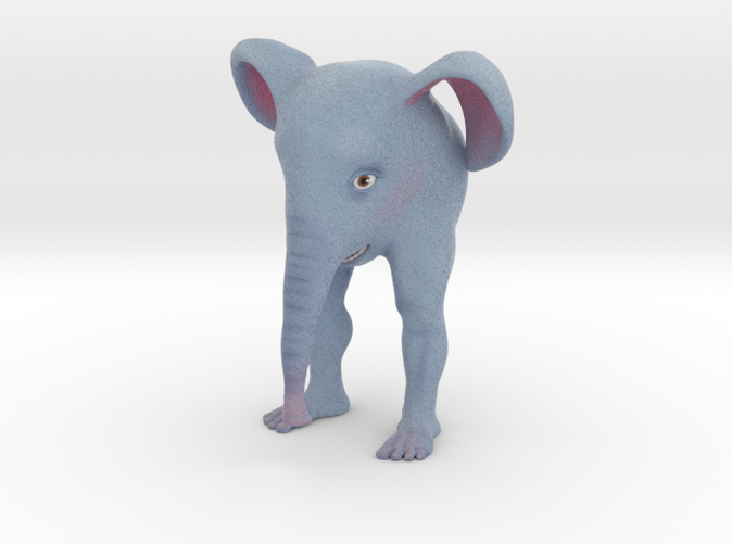 This is Shapeway's best approximation of what the finished color print will look like