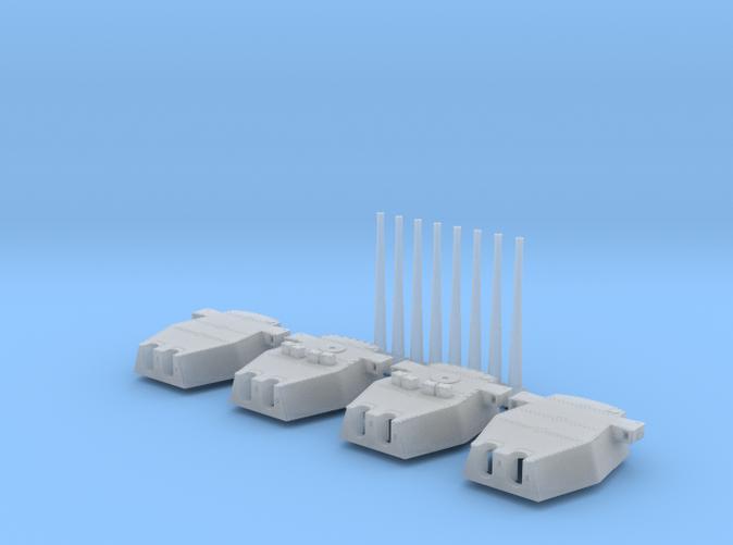 """1/700 Scale Royal Navy Twin 16"""" Guns x4"""
