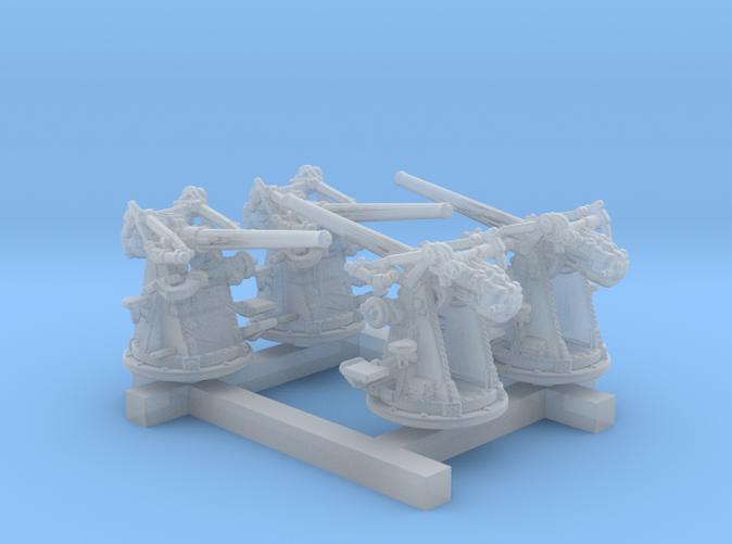 """1/350 12-pdr 3""""/45 (76.2 cm) 20cwt Guns x4"""