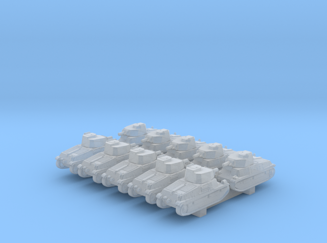 1/700 French SARL 42 Medium Tank x10