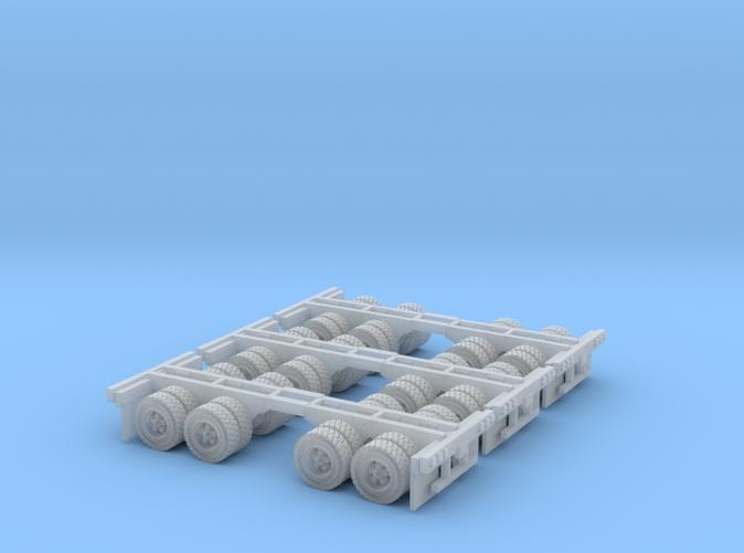 duel axle wheels for trailer Z scale