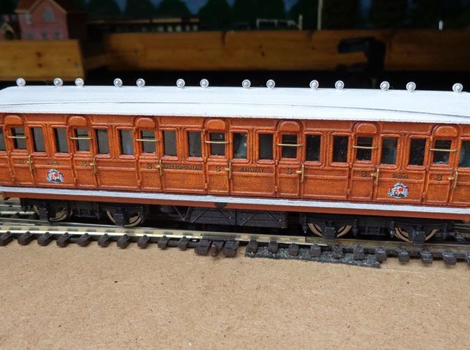 completed coach with printed details printed chassis, bogie, roof vents.
