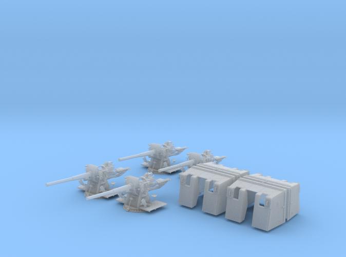 """1/96 4.7""""/45 (12cm) QF Mark IX CPXVII Guns x4"""