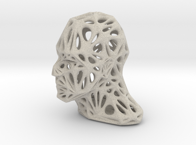 Male Voronoi Head (Sandstone)