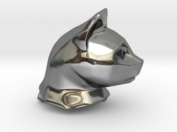 Cat Head Charm by Puybaret