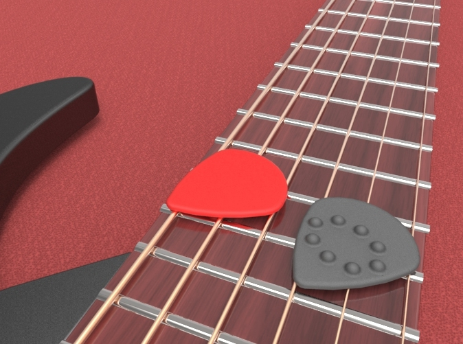 Jazz Style Guitar Pick with Dimples