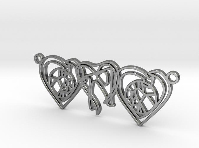 Personalised Voronoi Heart Necklace