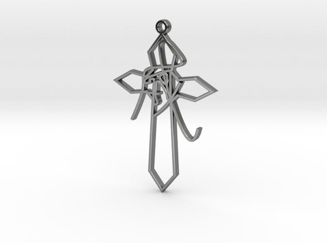 Personalised Astrological Eastern Cross Pendant