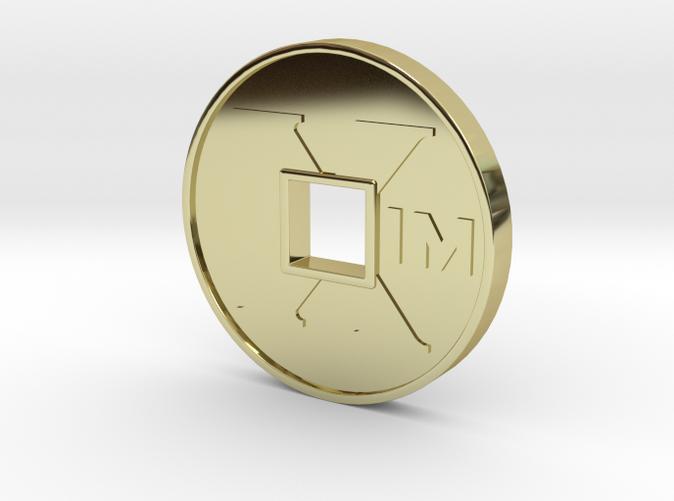 XIM coin 18k gold