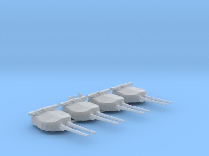 """1/600 HMS Hood 15"""" Mark II Turrets 1941 B. Bags"""