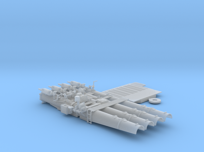 "1/72 Royal Navy 21"" Quad Torpedo Tubes x1"