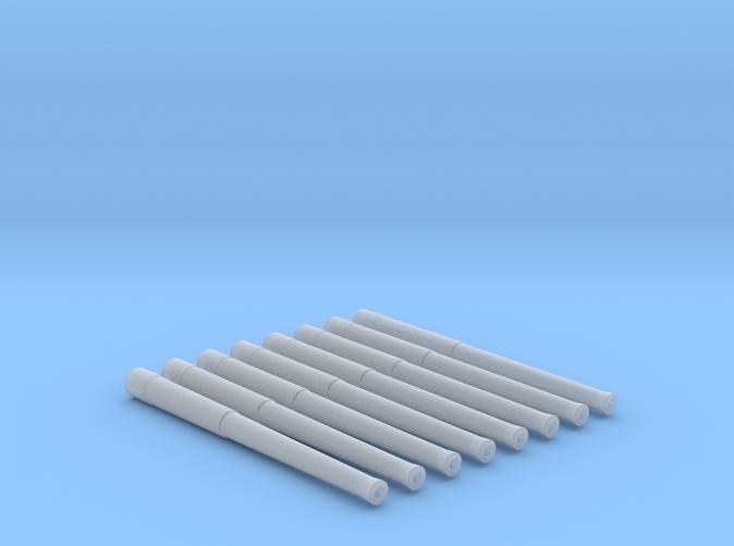 "1/144 Scale 13.5""/45 (34.3 cm) Barrels x8"