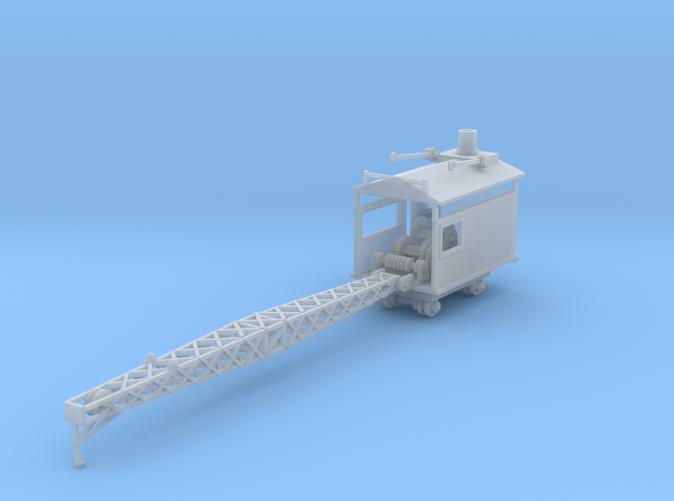 Crane Flat Car with rails Z scale