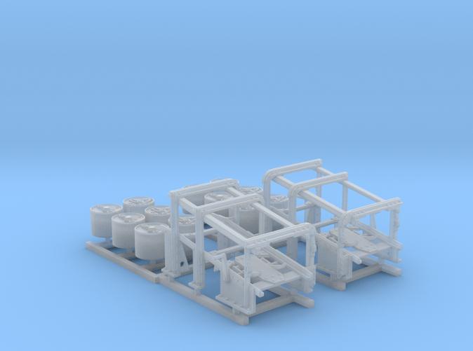 1/72 Royal Navy Small Depth Charge Racks x2