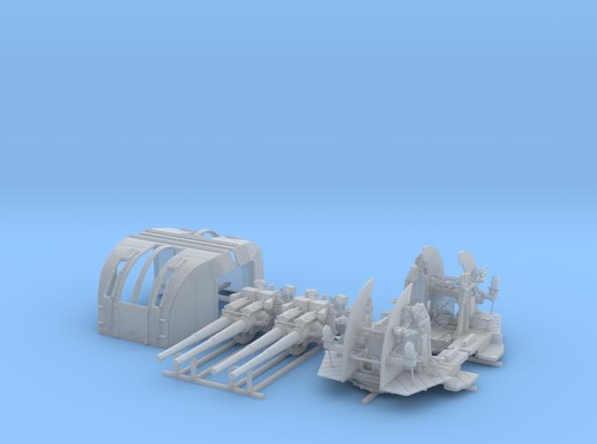 """1/72 RN 4""""/45 (10.2 cm) QF Mark XVI Gun x2"""