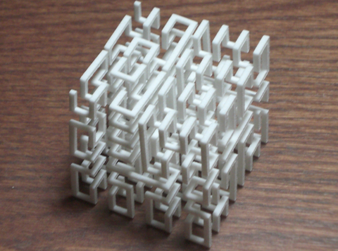 Hilbert cube which will pull apart