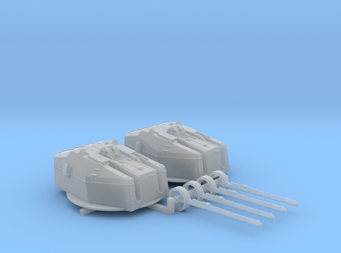 "1/350 HMS Tiger Class 6""/50(15.2cm) QF MKN5 Guns x2"