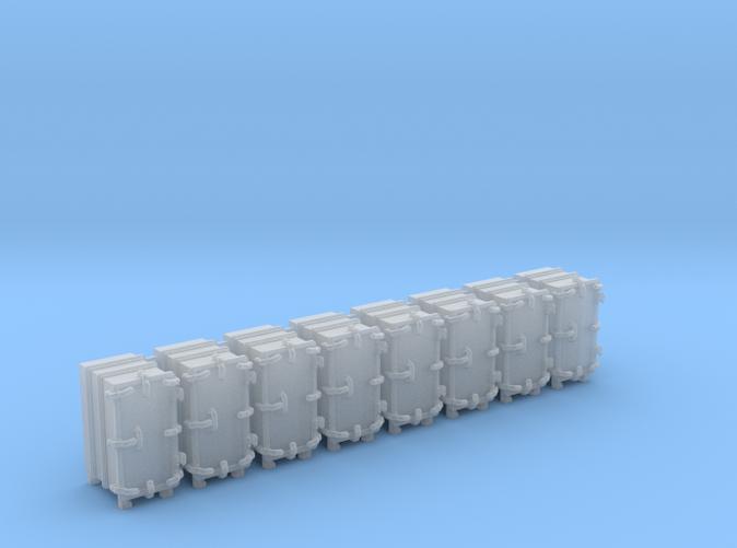 """1/144 Royal Navy 4.7"""" Ready Use Lockers (Med) x8"""