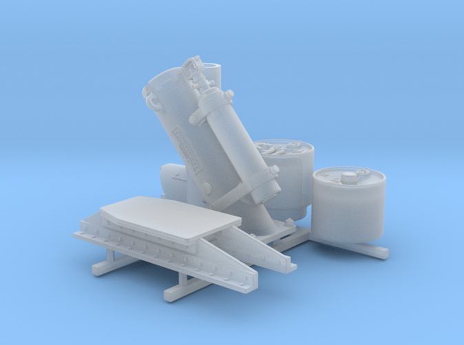 1/48 Royal Navy MKII Depth Charge Thrower x1