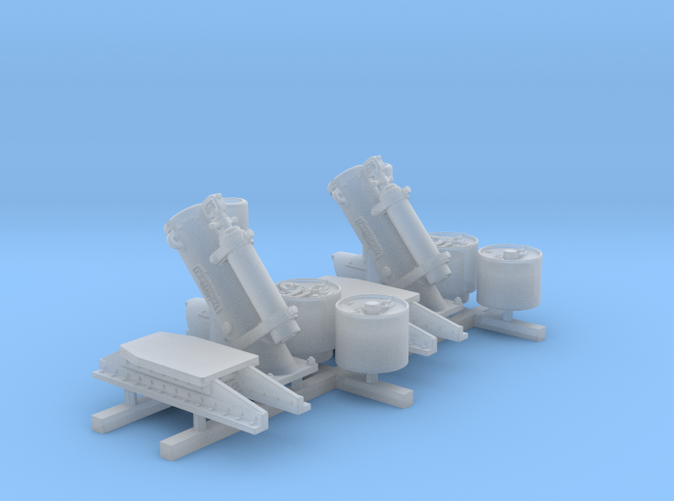 1/96 Royal Navy MKII Depth Charge Throwers x2