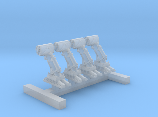 1/350 Royal Navy MKII Depth Charge Throwers x4
