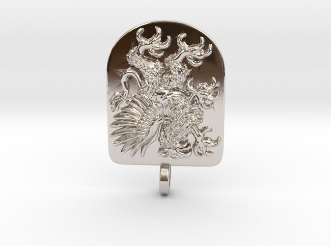 Griffin Heraldic Coat of Arms Pendant