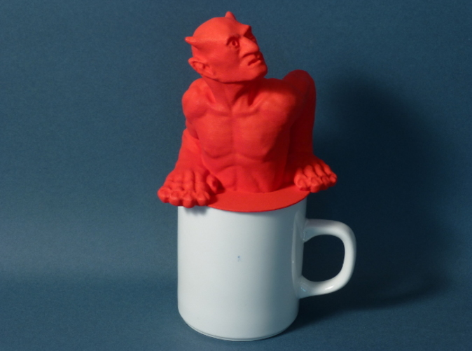 Standard Coffee Mug Devil ornamental figure