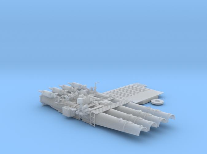 "1/48 Royal Navy 21"" Quad Torpedo Tubes x1"