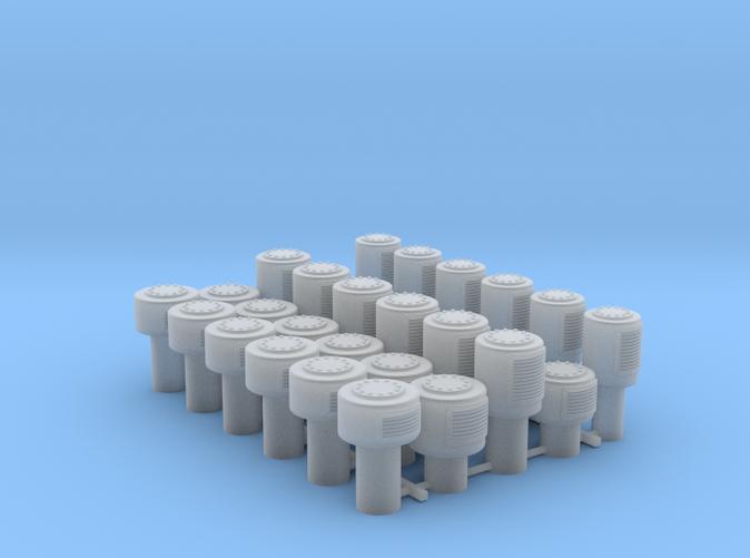 1/35 Royal Navy Small Mushroom Vents x30