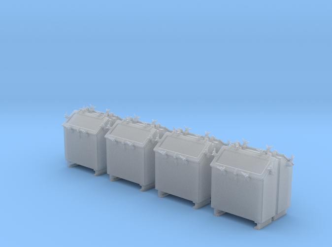 1/56 Royal Navy Quad Vickers Ready Use Lockers x8