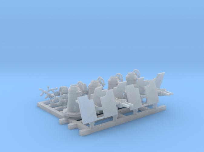1/150 Royal Navy 20mm Oerlikons MKI 0º x4