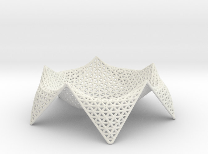 A bowl inspired by forms in nature and created by a generative algorithm