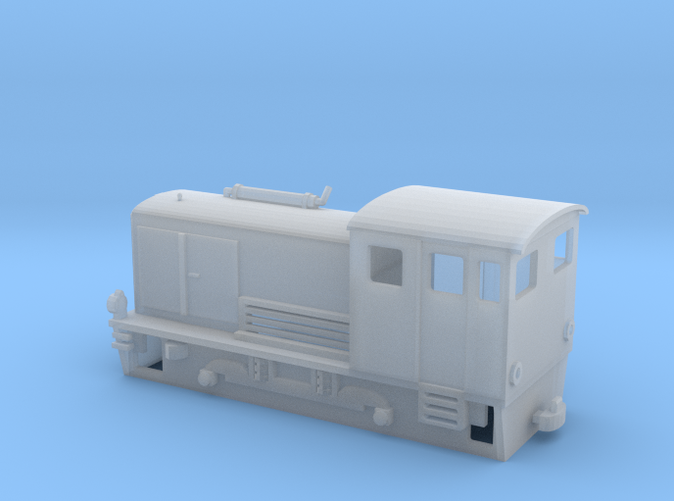 Freelance narrow gauge H0e model diesel shunter