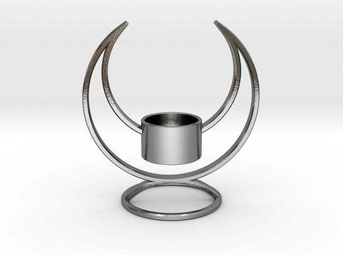 Solstice Candle Holder - Stunning in Polished Silver