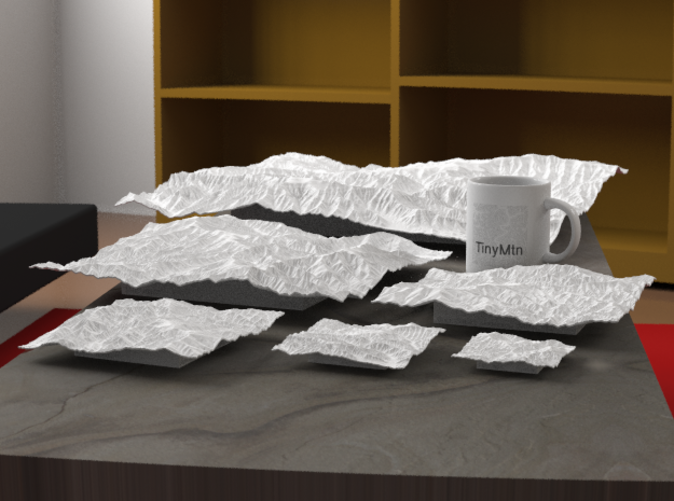"""Rendering of all available sizes of this model: 3"""", 4"""", 6"""", 8"""", 12"""" (this one), and 20""""."""