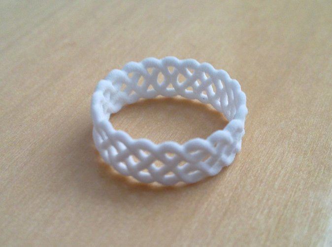 Celtic Ring in White Strong & Flexible