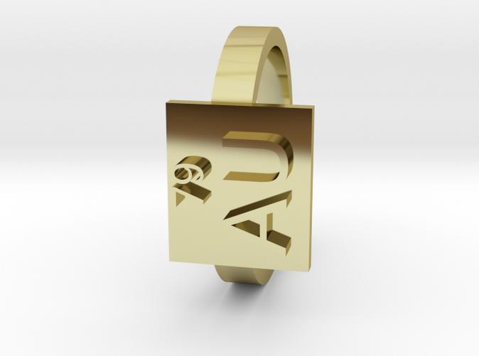 Gold Ring Au Gold Elemental Symbol Gq3y62shu By Zachj