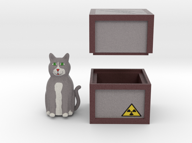 Render of Cat and Box