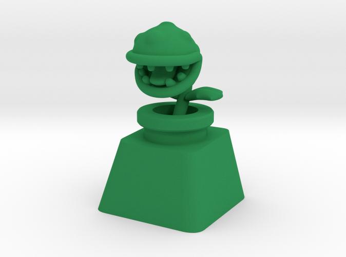 Custom Cherry MX Piranha Plant Keycap in Green Strong & Flexible plastic
