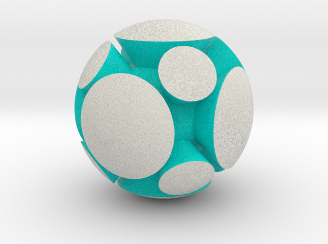 Shapeways render of HARMONY in Full Color Sandstone