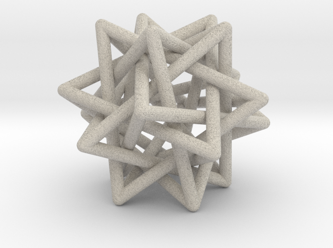 Printable in sandstone, with rounded points and edges