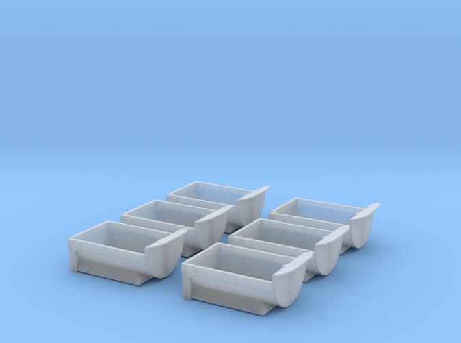 6 Dump truck Beds Z scale