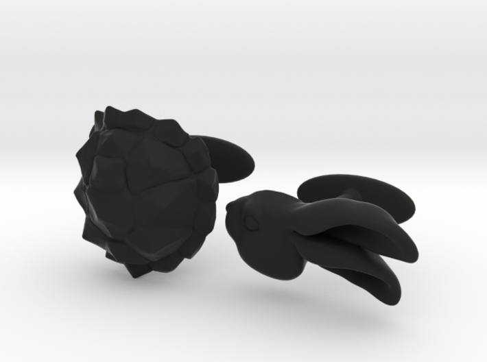 Tortoise and the Hare 3d printed